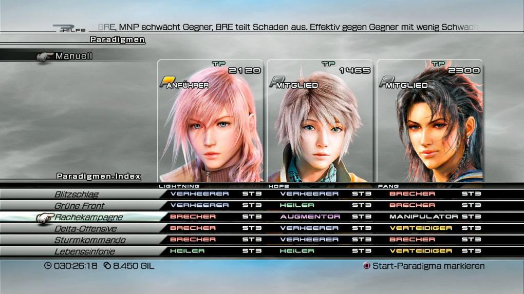 Final Fantasy 13: Komplettlösung
