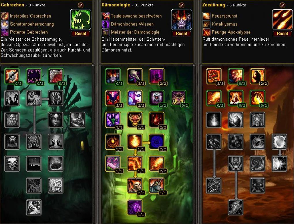 Wow Guide Der Hexenmeister In Wow Cataclysm Leveln Bis 85 Und Ausrustung