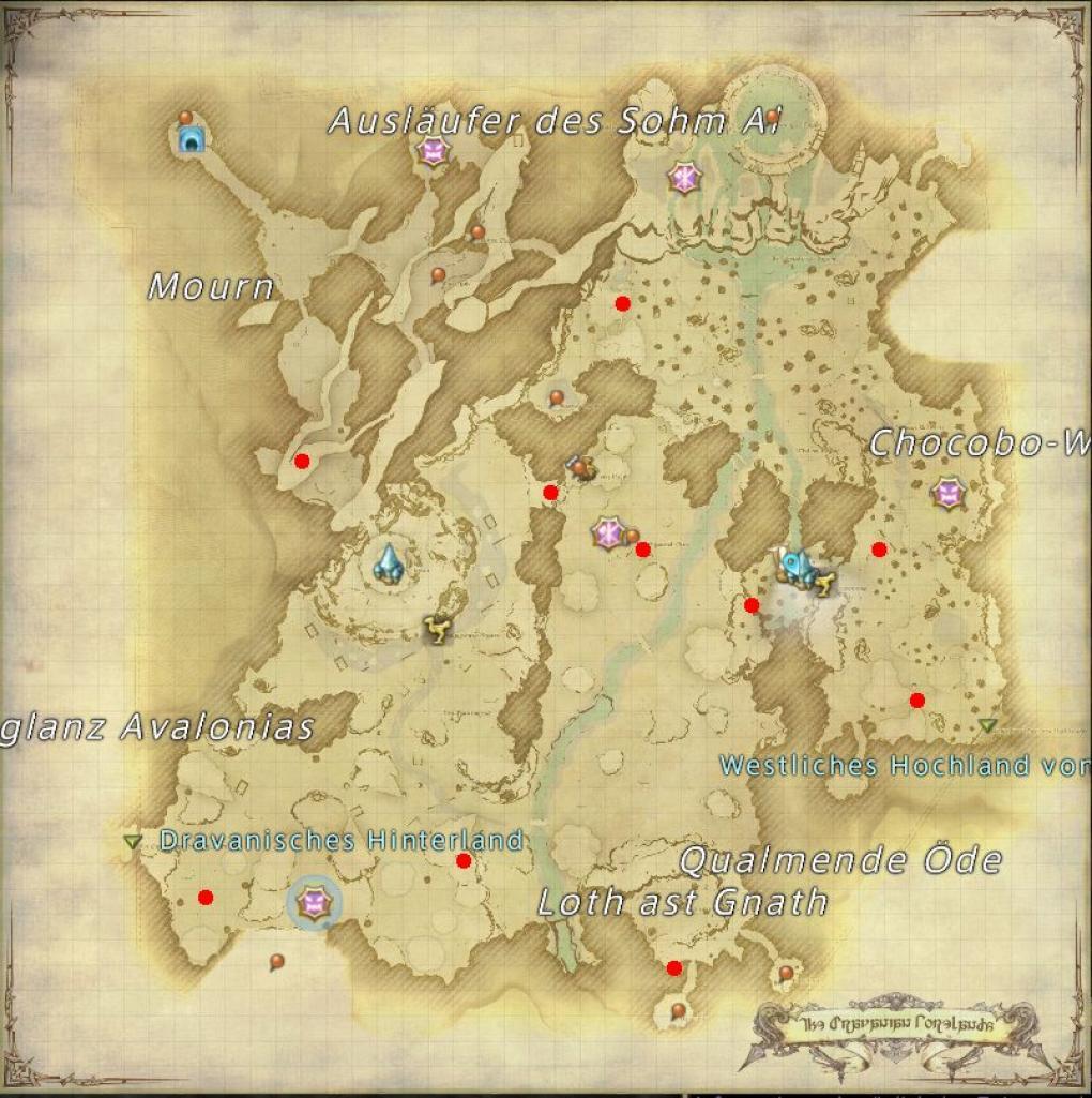 Final Fantasy 14: FFXIV: Windätherquellen Coerthas, Dravanisches ...