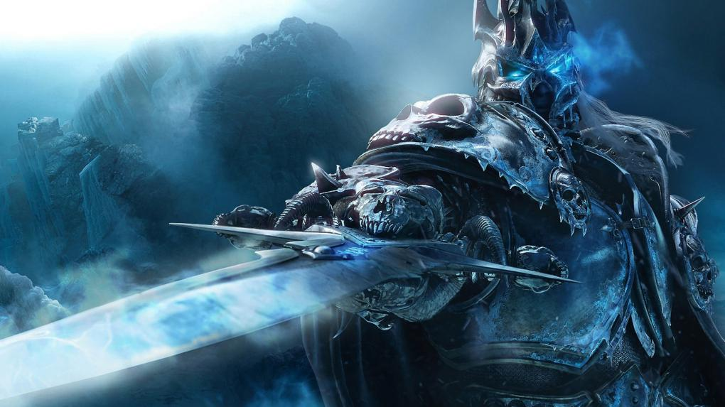 World of Warcraft: Arthas mit seiner Runenklinge Frostgram.