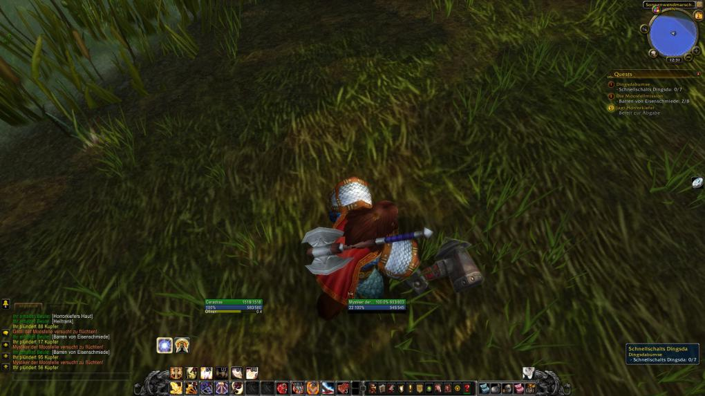 Bewusst Twinken in World of Warcraft: So sieht also ein Dingsda aus. Interessant ...