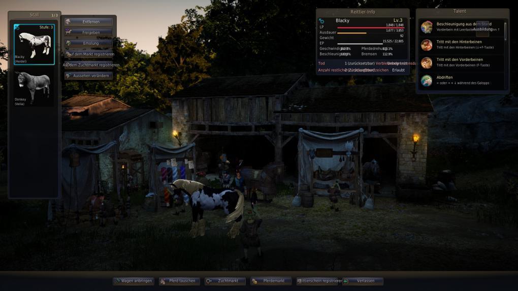 pferde rüstung craften
