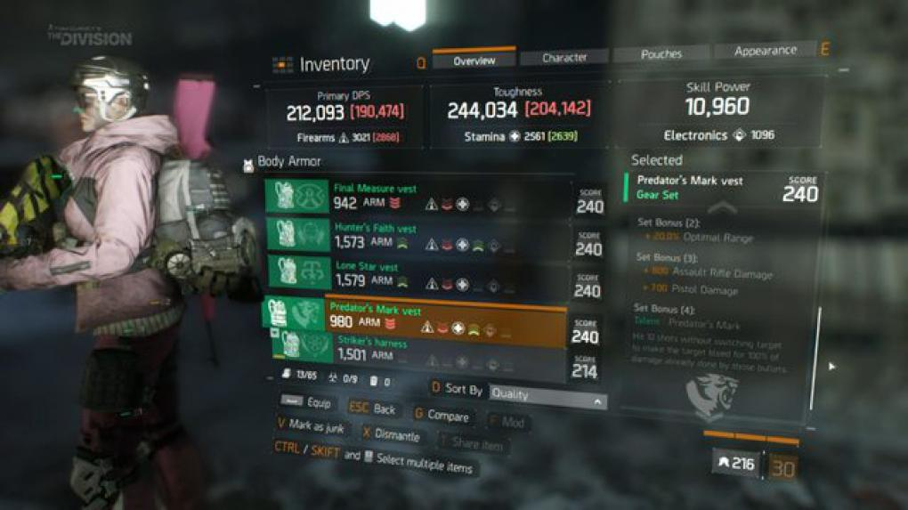 The Division: Predator Mark Set - mit Multi-Dots zum besten Dark Zone Set?