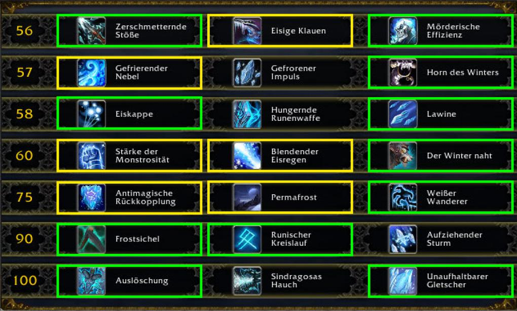 WoW: Die Talente des Frost-Todesritters mit Patch 7.0.3