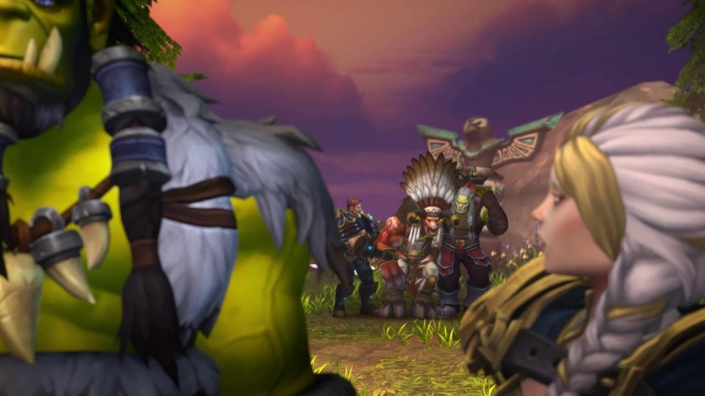 When the conversation on the co-operation comes across horde and alliance, the camera immediately says: help shaw and handle things in common.