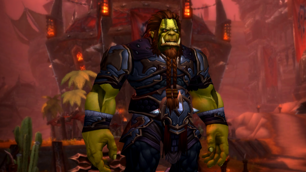 Ein Orc in WoW im Charakter-Editor des Pre-Patchs von Shadowlands