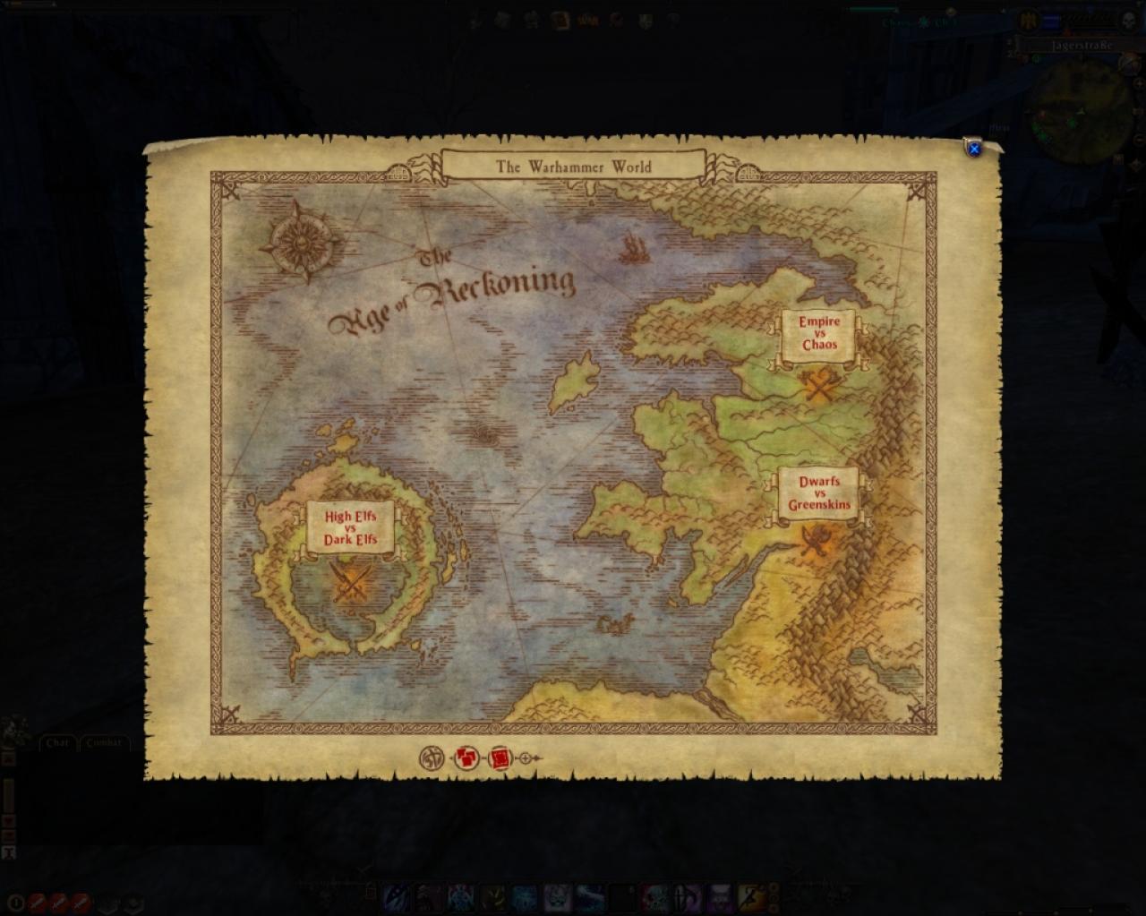 Warhammer Online Weltkarte Gesichtet