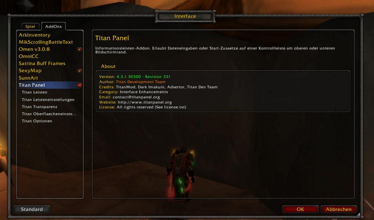 WoW Addon: Titan Panel