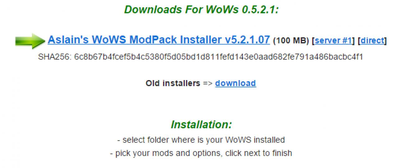 World of Warships: Aslains Modpack - Alle Mods in einem Paket