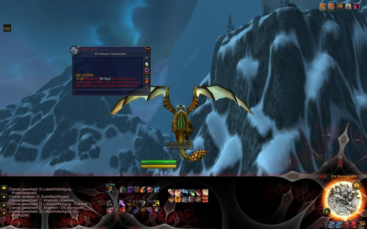 [26/03/10] Phising-Versuch in WoW!<br><br>Quelle: PC-Games
