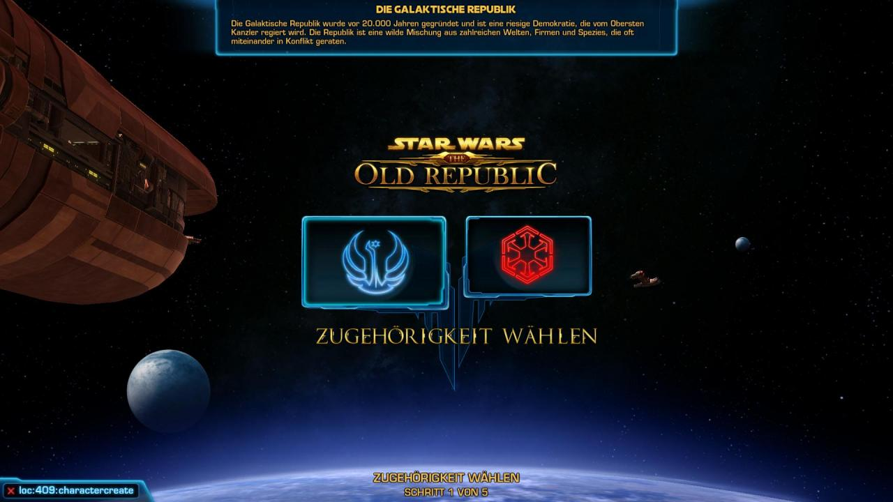 [18/11/11] Star Wars: The Old Republic - Die Charaktererstellung der Republik. (1)
