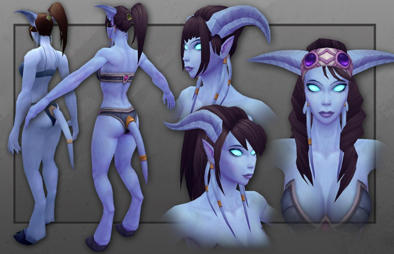 Wow draenei female nude galleries