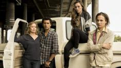 Fear the Walking Dead: Patchwork-Familie Madison, Travis, Alicia und Nick.