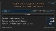 Diablo 3 Paragon Calculator