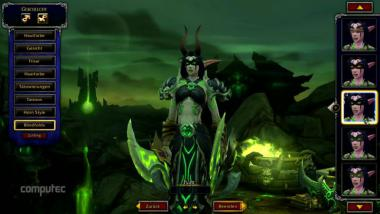 World of Warcraft Legion: Nachtelfen-Dämonenjäger in der Charaktererstellung