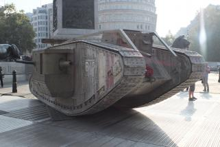 World of Tanks: Der Mark IV auf dem Trafalgar Square.