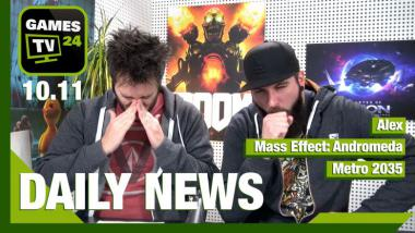 Mass Effect Andromeda, Elex, Metro: Video-News am 10. November