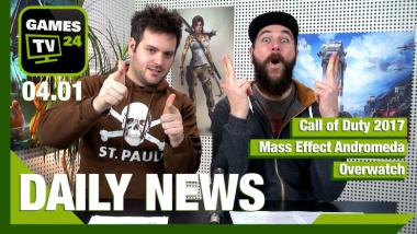 Call of Duty (2017), Mass Effect Andromeda, Overwatch: Video-News am 4. Januar