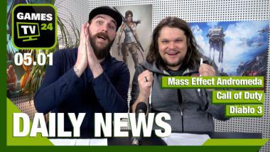 Mass Effect Andromeda, Call of Duty, Diablo 3: Video-News am 5. Januar