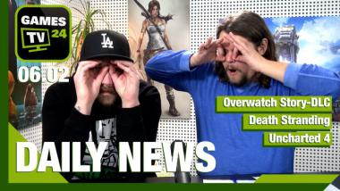 Overwatch Story-DLC, Death Stranding, Uncharted 4: Video-News am 6. Februar