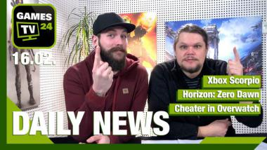 Xbox Scorpio, Horizon: Zero Dawn, Cheater in Overwatch: Video-News am 16. Februar