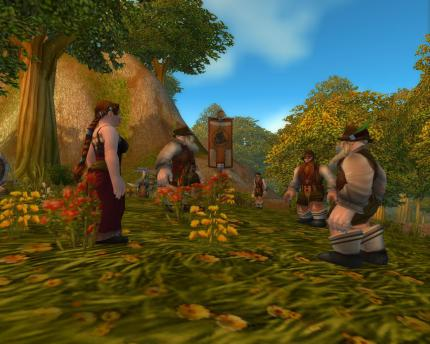 Bayrische Volksfest-Stimmung in World of Warcraft - Zwerge in Lederfummel und Wiesentracht.