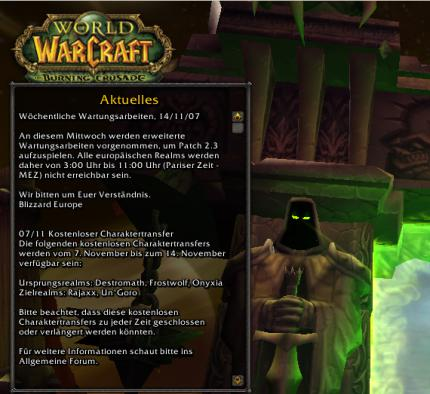 WoW: Patchnotes 2.3