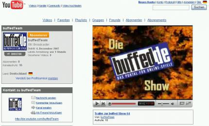 buffed intern: buffed-Show-Trailer auf YouTube
