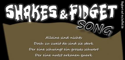 buffed intern: Der Shakes-und-Fidget-Song