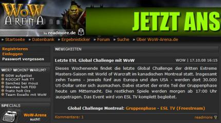 WoW: Global Challenge der Intel Extreme Masters III