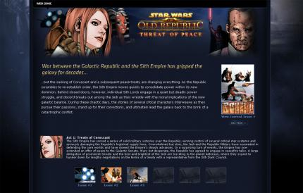 Star Wars: The Old Republic: Web-Comic und Video