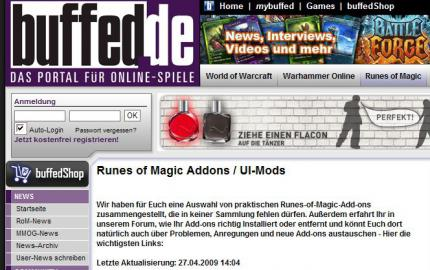 Runes of Magic: Add-on-Bereich online!