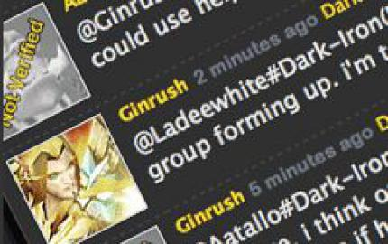 WoW: Twitter in World of Warcraft