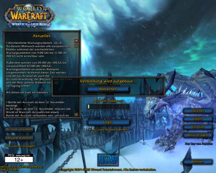 WoW: Login-Probleme auf WoW-Realms