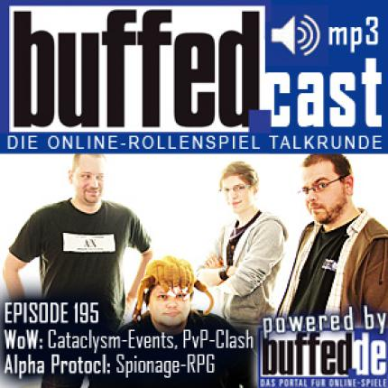 buffedCast Episode 195: WoW Cataclysm Pre-Quests, Clash of the Fansites, Mass-Effect-Film, Alpha Protocol und Guild Wars 2