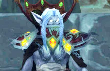 World of Warcraft: Tenris Mirkblut ist der Diener des Lichkönigs. Der Vampir tummelte sich beim Pre-Event zu Wrath of the Lich King in Karazhan.