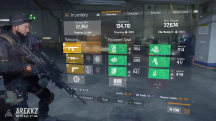 The Division Patch 1.3: Das neue Gearset 'The Reclaimer' komplett.