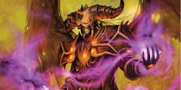 Ein Hexenmeister in World of Warcraft.