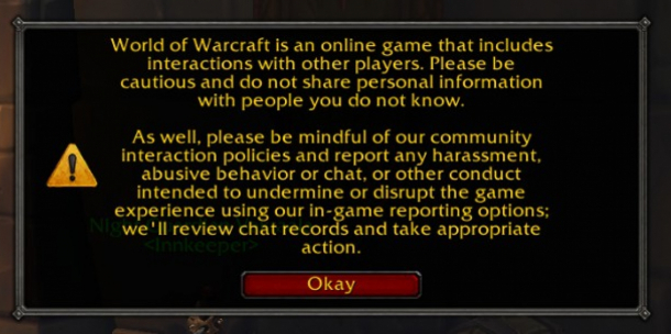 WoW: Blizzard ruft per Pop-Up-Fenster dazu auf, unfreundliche Mitspieler zu melden (1)