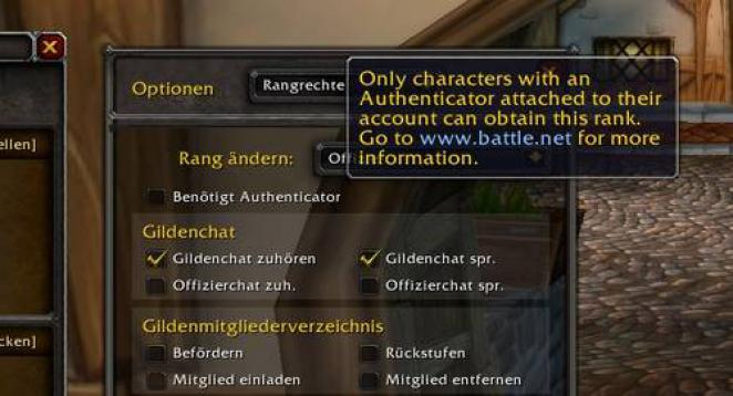 WoW Cataclysm Beta: Authenticator als Schutz vor Gildenbankdiebstahl