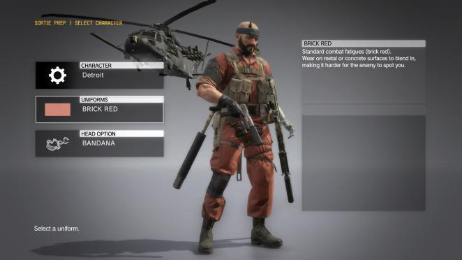 MGS5: Combat-Fatigue BRICK am Modell