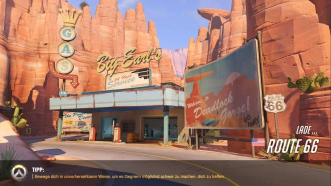 Overwatch Map: Route 66 (1)