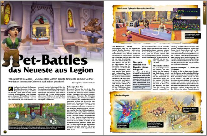 PC Games MMORE Ausgabe 05/2016: Alles zu Pet-Battles in WoW Legion.