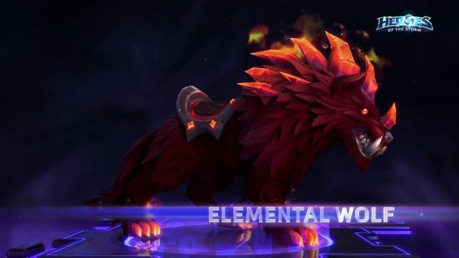 Heroes of the Storm: Elemental Wolf Mount (1)