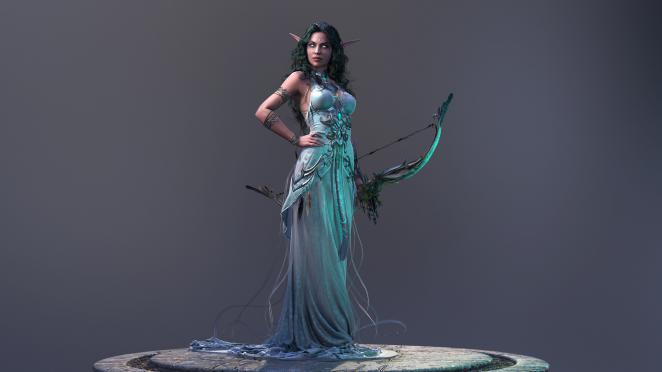 World of Warcraft: Tyrande Wisperwind - 3D-Modell