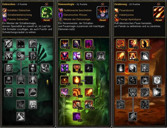 WoW-Guide: Klassen-Guide für Hexenmeister in WoW: Cataclysm