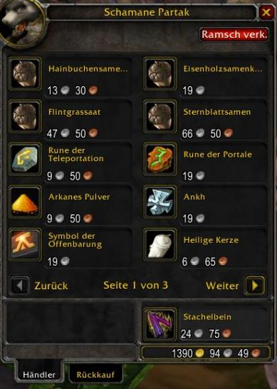 WoW: Addons - SellJunk (Legion 7.2) (1)
