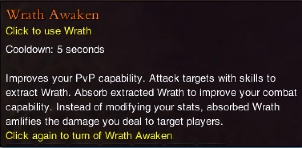 "Zentrales Feature des PvP-Systems in Forsaken World ab Level 30 ist die sogenannte ""Awaken Wrath""-Option."