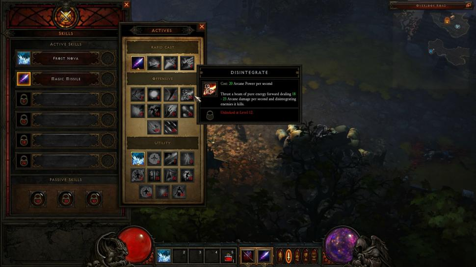 Diablo 3: Das neue Skill-Interface (Screenshot von Beta-Tester Makenshi)