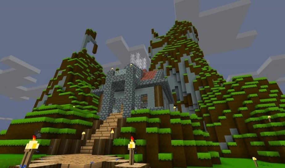 Minecraft Snapshot 12w08a Dorf Verteidigung Umgedrehte Treppen